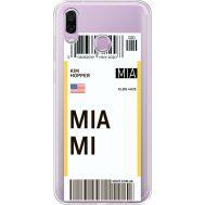 Силиконовый чехол BoxFace Huawei Honor Play Ticket Miami (35427-cc81)