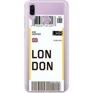 Силиконовый чехол BoxFace Huawei Honor Play Ticket London (35427-cc83)