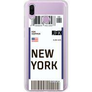 Силиконовый чехол BoxFace Huawei Honor Play Ticket New York (35427-cc84)