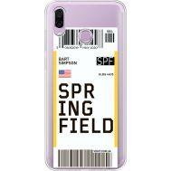 Силиконовый чехол BoxFace Huawei Honor Play Ticket Springfield (35427-cc93)