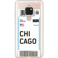 Силиконовый чехол BoxFace Huawei Mate 20 Ticket Chicago (35636-cc82)