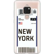Силиконовый чехол BoxFace Huawei Mate 20 Ticket New York (35636-cc84)