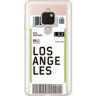 Силиконовый чехол BoxFace Huawei Mate 20 Ticket Los Angeles (35636-cc85)