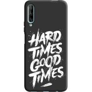 Силиконовый чехол BoxFace Huawei P Smart Pro hard times good times (38955-bk72)