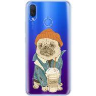 Силиконовый чехол BoxFace Huawei P Smart Plus Dog Coffeeman (34975-cc70)