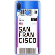 Силиконовый чехол BoxFace Huawei P Smart Plus Ticket San Francisco (34975-cc79)