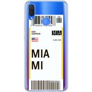 Силиконовый чехол BoxFace Huawei P Smart Plus Ticket Miami (34975-cc81)