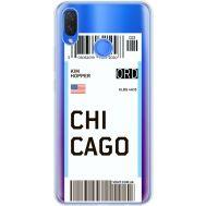 Силиконовый чехол BoxFace Huawei P Smart Plus Ticket Chicago (34975-cc82)