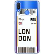 Силиконовый чехол BoxFace Huawei P Smart Plus Ticket London (34975-cc83)