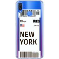 Силиконовый чехол BoxFace Huawei P Smart Plus Ticket New York (34975-cc84)