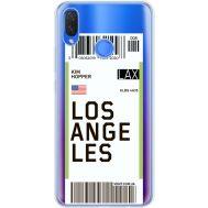 Силиконовый чехол BoxFace Huawei P Smart Plus Ticket Los Angeles (34975-cc85)