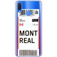Силиконовый чехол BoxFace Huawei P Smart Plus Ticket Monreal (34975-cc87)