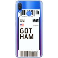 Силиконовый чехол BoxFace Huawei P Smart Plus Ticket Gotham (34975-cc92)