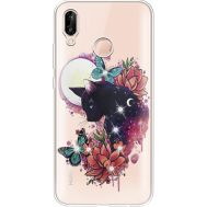 Силиконовый чехол BoxFace Huawei P20 Lite Cat in Flowers (934991-rs10)