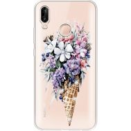 Силиконовый чехол BoxFace Huawei P20 Lite Ice Cream Flowers (934991-rs17)