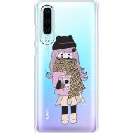 Силиконовый чехол BoxFace Huawei P30 Winter Morning Girl (36852-cc61)