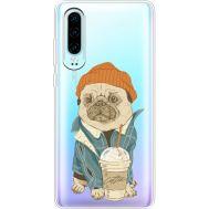 Силиконовый чехол BoxFace Huawei P30 Dog Coffeeman (36852-cc70)