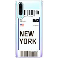 Силиконовый чехол BoxFace Huawei P30 Ticket New York (36852-cc84)