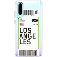 Силиконовый чехол BoxFace Huawei P30 Ticket Los Angeles (36852-cc85)