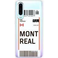 Силиконовый чехол BoxFace Huawei P30 Ticket Monreal (36852-cc87)