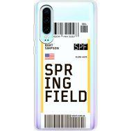 Силиконовый чехол BoxFace Huawei P30 Ticket Springfield (36852-cc93)