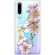 Силиконовый чехол BoxFace Huawei P30 Cherry Blossom (36852-cc4)