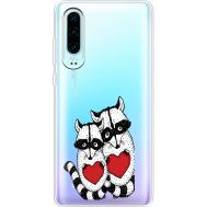Силиконовый чехол BoxFace Huawei P30 Raccoons in love (36852-cc29)