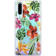 Силиконовый чехол BoxFace Huawei P30 Tropical Flowers (36852-cc43)