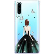 Силиконовый чехол BoxFace Huawei P30 Girl in the green dress (936852-rs13)