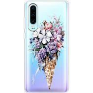Силиконовый чехол BoxFace Huawei P30 Ice Cream Flowers (936852-rs17)