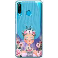 Силиконовый чехол BoxFace Huawei P30 Lite Blue Hair (36872-cc57)