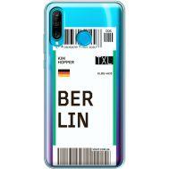 Силиконовый чехол BoxFace Huawei P30 Lite Ticket Berrlin (36872-cc80)