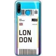 Силиконовый чехол BoxFace Huawei P30 Lite Ticket London (36872-cc83)
