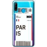 Силиконовый чехол BoxFace Huawei P30 Lite Ticket Paris (36872-cc86)