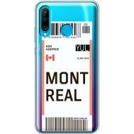 Силиконовый чехол BoxFace Huawei P30 Lite Ticket Monreal (36872-cc87)