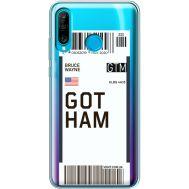 Силиконовый чехол BoxFace Huawei P30 Lite Ticket Gotham (36872-cc92)