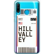 Силиконовый чехол BoxFace Huawei P30 Lite Ticket Hill Valley (36872-cc94)