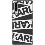 Силиконовый чехол BoxFace Huawei P30 White Karl (37049-bk37)