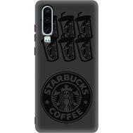Силиконовый чехол BoxFace Huawei P30 Black Coffee (37049-bk41)