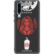 Силиконовый чехол BoxFace Huawei P30 RedWhite Coffee (37049-bk43)