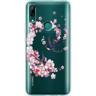 Силиконовый чехол BoxFace Huawei P Smart Z Swallows and Bloom (937382-rs4)