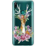 Силиконовый чехол BoxFace Huawei P Smart Z Deer with flowers (937382-rs5)