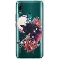 Силиконовый чехол BoxFace Huawei P Smart Z Cat in Flowers (937382-rs10)