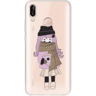 Силиконовый чехол BoxFace Huawei P20 Lite Winter Morning Girl (34991-cc61)