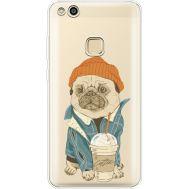 Силиконовый чехол BoxFace Huawei P10 Lite Dog Coffeeman (35957-cc70)