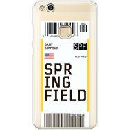 Силиконовый чехол BoxFace Huawei P10 Lite Ticket Springfield (35957-cc93)