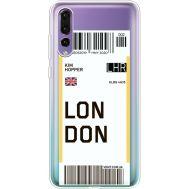 Силиконовый чехол BoxFace Huawei P20 Pro Ticket London (36195-cc83)