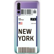 Силиконовый чехол BoxFace Huawei P20 Pro Ticket New York (36195-cc84)