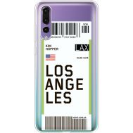 Силиконовый чехол BoxFace Huawei P20 Pro Ticket Los Angeles (36195-cc85)