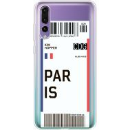 Силиконовый чехол BoxFace Huawei P20 Pro Ticket Paris (36195-cc86)